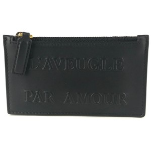Gucci NEW GUCCI L'Aveugle Par Amour Leather Zip Top Small Card Case Wallet