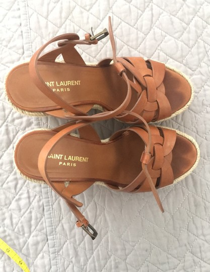 Saint Laurent cognac Brown Wedges Image 6