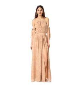 nude Maxi Dress by The Jetset Diaries