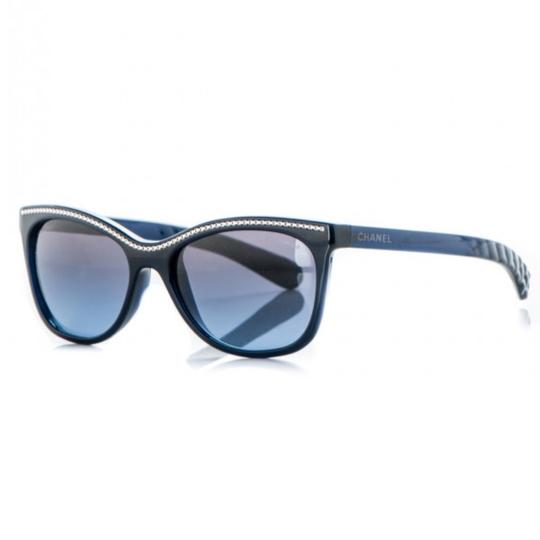 Preload https://img-static.tradesy.com/item/25657872/chanel-navy-blue-cat-eye-chain-sunglasses-0-0-540-540.jpg