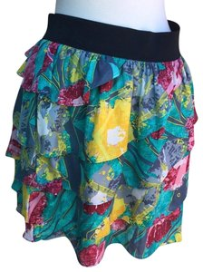 Gibson Mini Skirt Green/ Yellow
