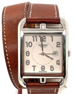 Hermès Hermes Cape Cod Stainless Steel & Leather Strap Watch