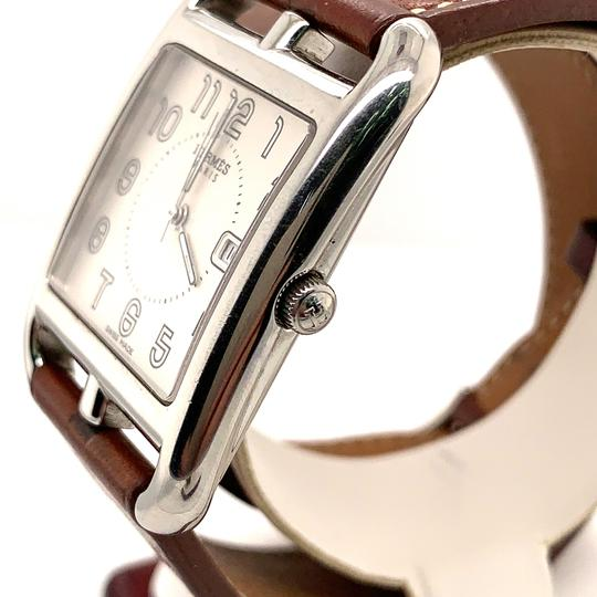 Hermès Hermes Cape Cod Stainless Steel & Leather Strap Watch Image 2