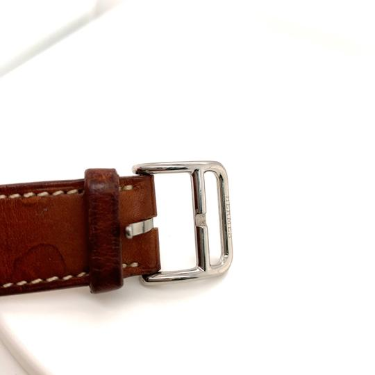 Hermès Hermes Cape Cod Stainless Steel & Leather Strap Watch Image 3
