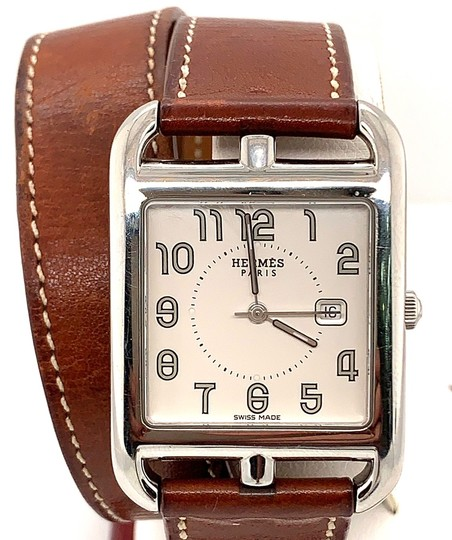 Hermès Hermes Cape Cod Stainless Steel & Leather Strap Watch Image 4