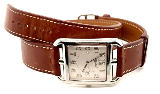 Hermès Hermes Cape Cod Stainless Steel & Leather Strap Watch Image 6