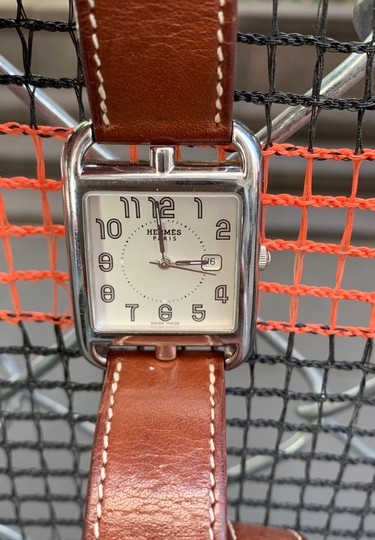 Hermès Hermes Cape Cod Stainless Steel & Leather Strap Watch Image 7