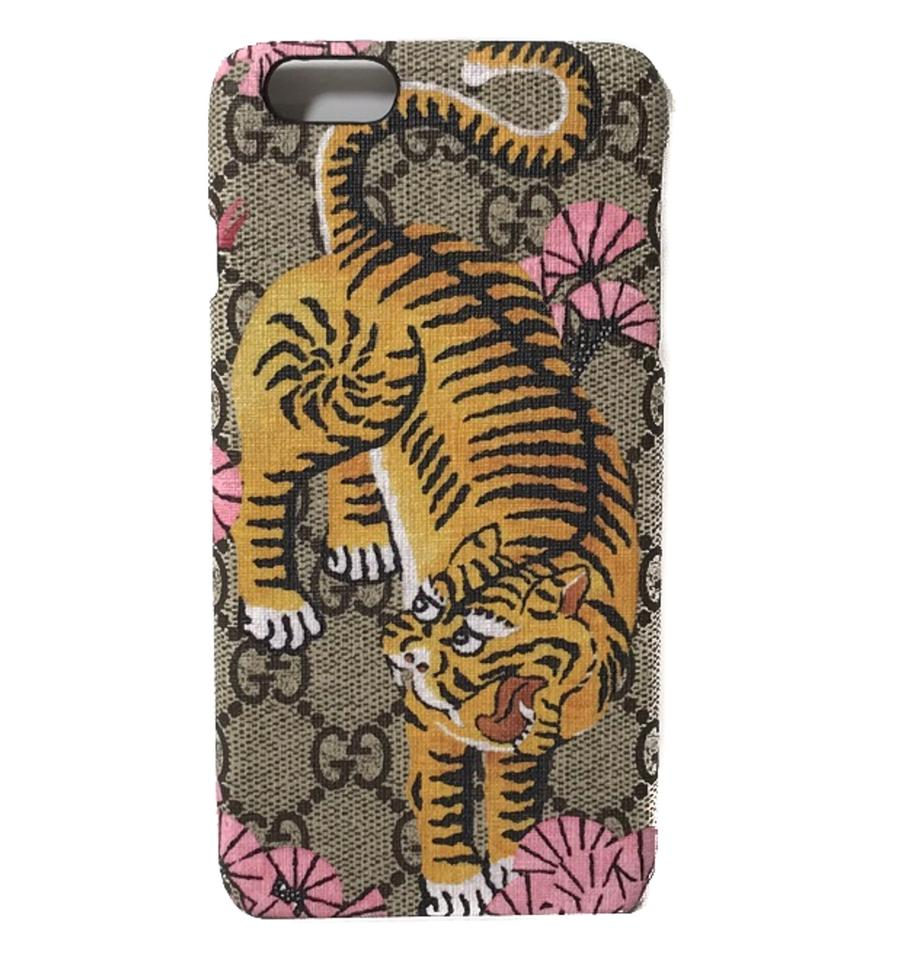 new styles 98108 0fe31 Gucci Multicolor New 452365 Gg Supreme Bengal Iphone 6 Plus Phone Cover  Tech Accessory 69% off retail