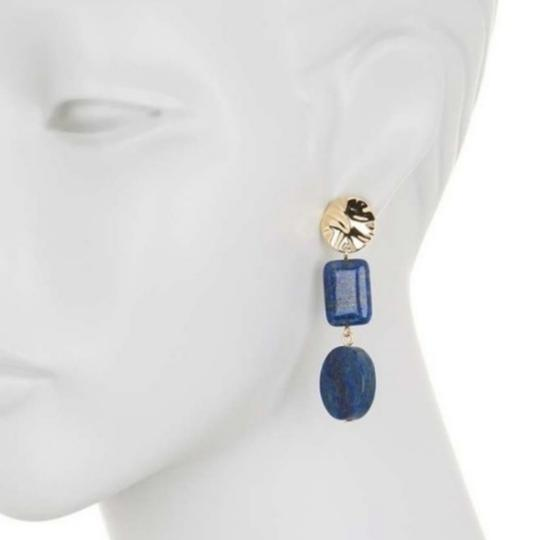 Preload https://item5.tradesy.com/images/halogen-blue-and-gold-semi-precious-double-drop-earrings-25657969-0-0.jpg?width=440&height=440