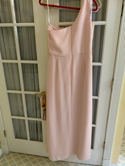After Six Light Pink One Shoulder Gown Modern Bridesmaid/Mob Dress Size 14 (L) Image 2