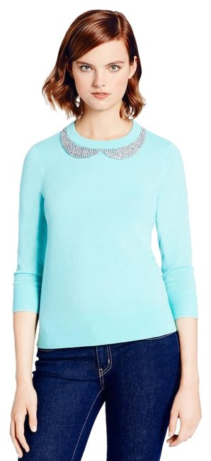 Preload https://img-static.tradesy.com/item/25658010/kate-spade-tippy-embroidered-collar-blue-sweater-0-1-650-650.jpg