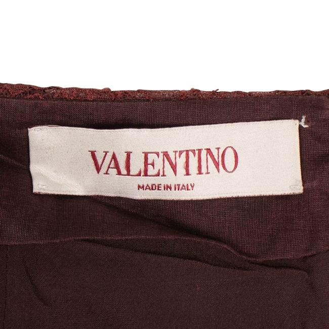 Valentino Striped Lace Detail Pencil Skirt Red Image 4