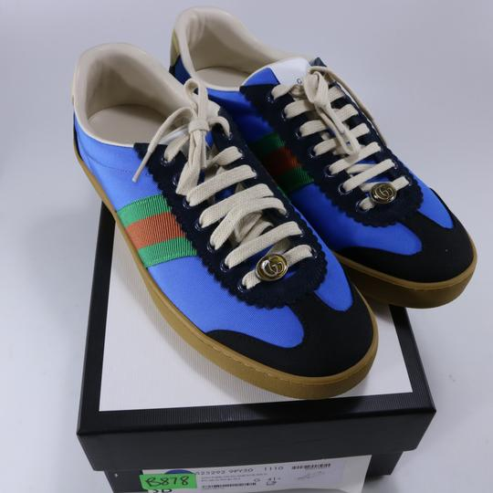 Gucci Sneakers Web Logo Sneakers blue Athletic Image 1