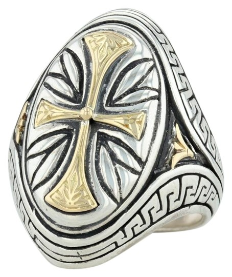Preload https://img-static.tradesy.com/item/25658212/konstantino-silver-and-gold-cross-sterling-18k-size-75-religious-statement-ring-0-1-540-540.jpg