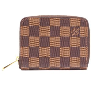 Louis Vuitton Damier ebene Square Zip around card holder case wallet