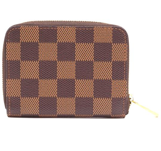 Louis Vuitton Damier ebene Square Zip around card holder case wallet Image 1
