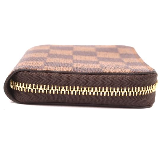Louis Vuitton Damier ebene Square Zip around card holder case wallet Image 6