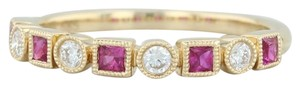 Other New .42ctw Diamond & Ruby Ring - 14k Yellow Gold Size 6.75 Stackable