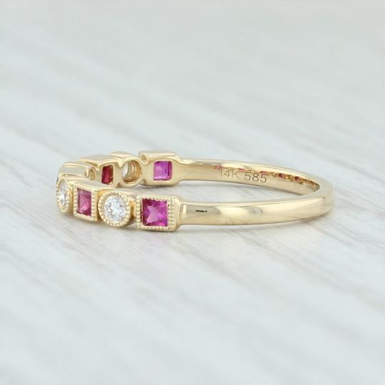 Other New .42ctw Diamond & Ruby Ring - 14k Yellow Gold Size 6.75 Stackable Image 2