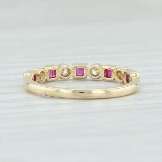 Other New .42ctw Diamond & Ruby Ring - 14k Yellow Gold Size 6.75 Stackable Image 3