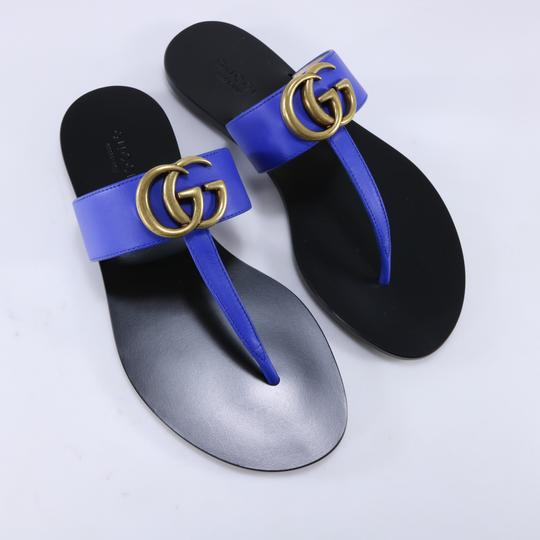 Gucci Marmont Thongs Marmont blue Sandals Image 8