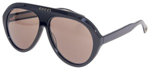 Gucci GUCCI 0479 Black Brown Aviator Vintage Unisex Sunglasses GG0479S