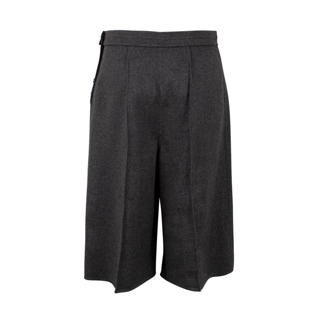 Valentino Wool Piped Detail Wide Classic Dress Shorts Gray Image 1