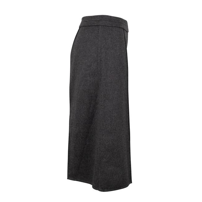 Valentino Wool Piped Detail Wide Classic Dress Shorts Gray Image 2