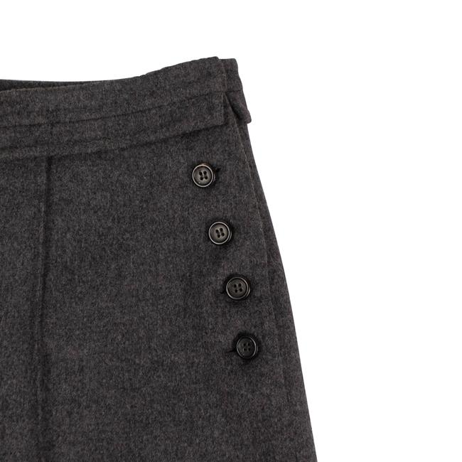Valentino Wool Piped Detail Wide Classic Dress Shorts Gray Image 3
