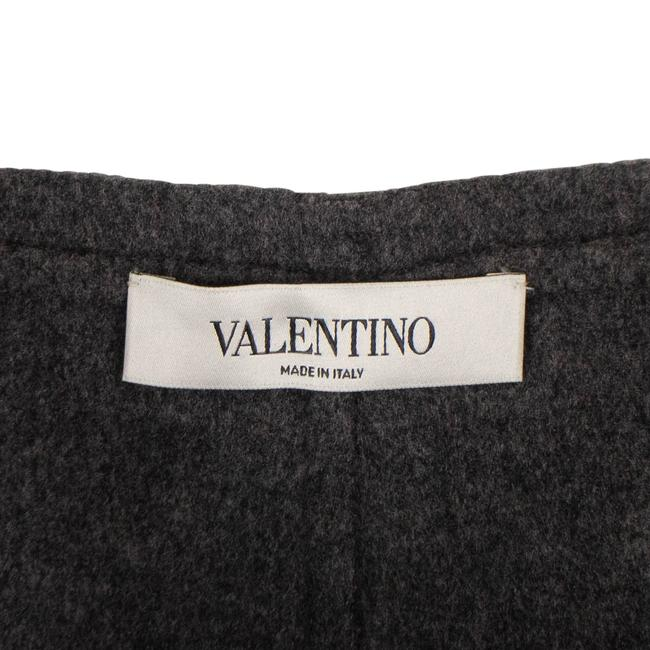 Valentino Wool Piped Detail Wide Classic Dress Shorts Gray Image 4