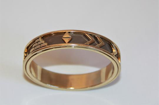 HOUSE HOUSE OF HARLOW 1960 Aztec Khaki Leather and 14kt Gold Plated Bangle Image 1