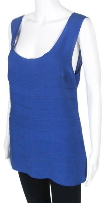 Preload https://img-static.tradesy.com/item/25658404/tory-burch-blue-womens-silk-oriena-sleeveless-scoop-neck-tiered-blouse-size-12-l-0-1-650-650.jpg