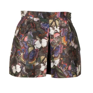 Valentino Polyester Silk Animal Print Butterfly Mini/Short Shorts Multi-Color
