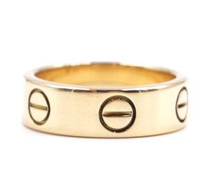 Cartier Yellow 18K gold Love band ring 51 5.5mm wide size 5