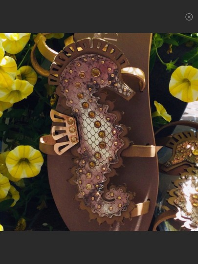 Ivy Kirzhner Caramel Tan & Rose Gold Sandals Image 3