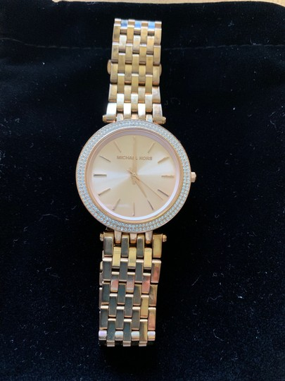 Michael Kors Michael Kors Rose Gold with Crystal Surround Image 1
