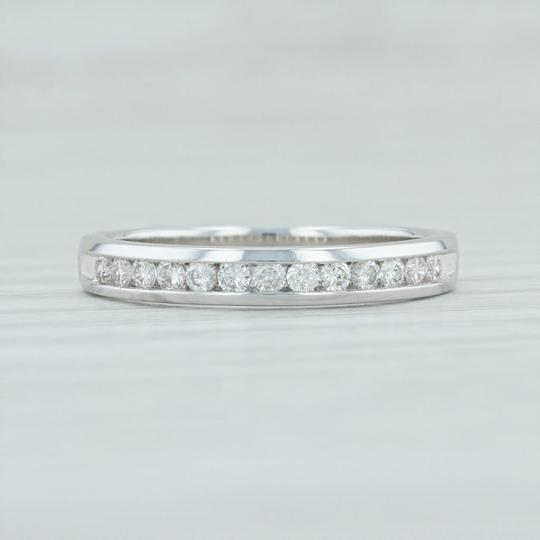 White Gold .25ctw Diamond - 14k Size Ring Stack Women's Wedding Band Image 1