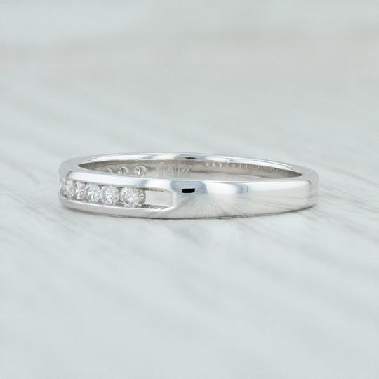 White Gold .25ctw Diamond - 14k Size Ring Stack Women's Wedding Band Image 2