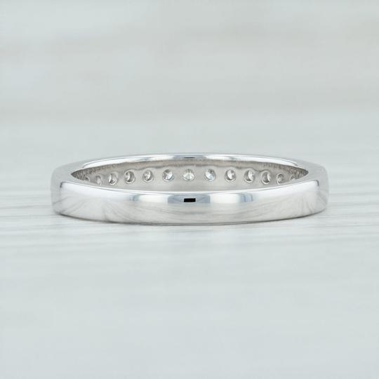 White Gold .25ctw Diamond - 14k Size Ring Stack Women's Wedding Band Image 3