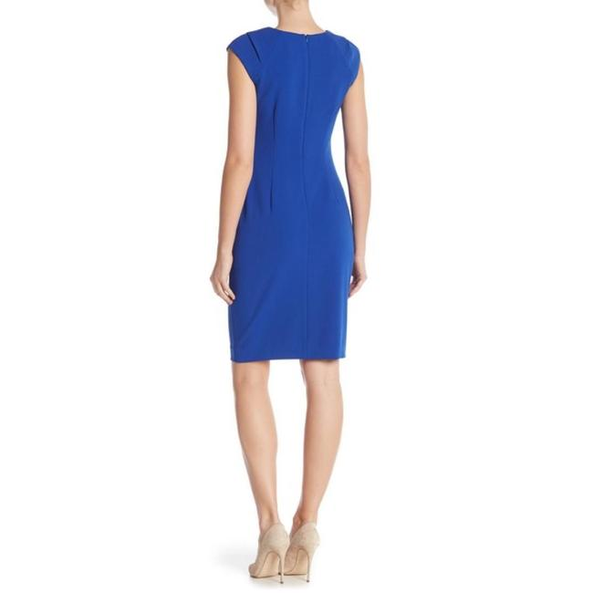 Calvin Klein Sheath Ruched Stretchy Cap Sleeve Dress Image 1