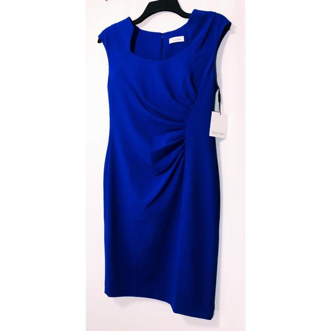 Calvin Klein Sheath Ruched Stretchy Cap Sleeve Dress Image 4