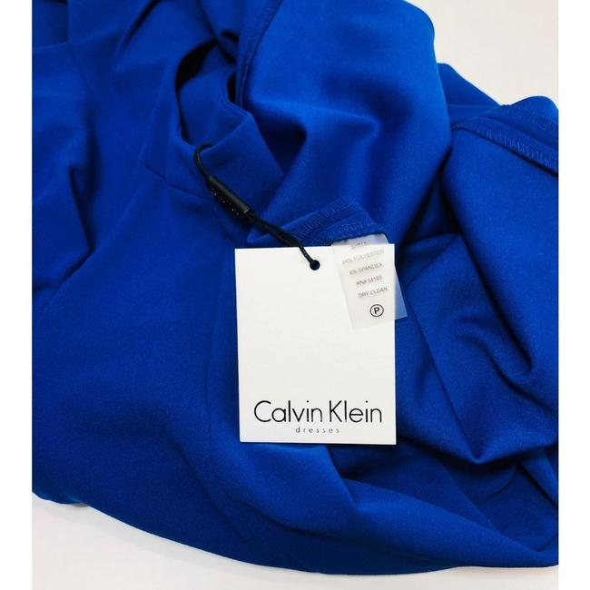 Calvin Klein Sheath Ruched Stretchy Cap Sleeve Dress Image 5