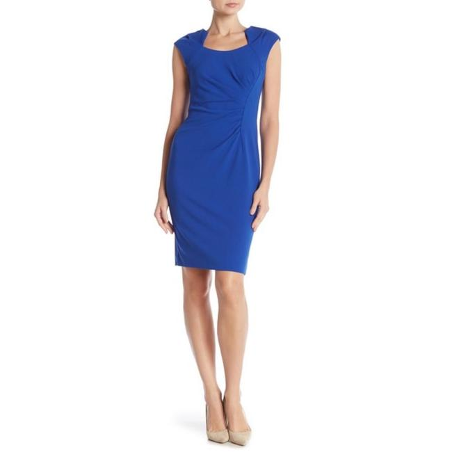 Calvin Klein Sheath Ruched Stretchy Cap Sleeve Dress Image 6