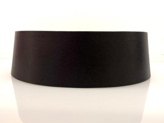 Gucci Gucci Black Extra Wide Leather Belt Image 1