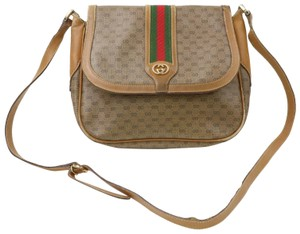 Gucci Shades Of Classic 1980's Sherry Line Purse Cross Body/Shoulder Red/Green Shoulder Bag