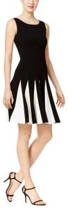 Tommy Hilfiger short dress Black/White #pleated on Tradesy