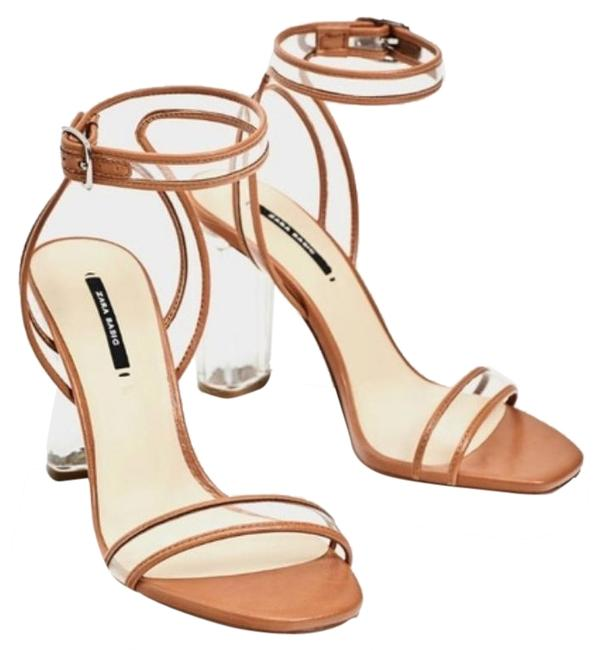 Item - Tan Clear Lucite Heels Pumps Size EU 39 (Approx. US 9) Regular (M, B)