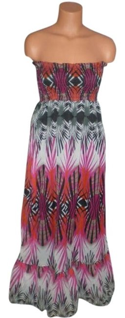multi Maxi Dress by Steve Madden Maxi New Sheer Outer Chiffon Layer