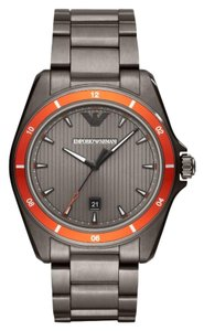 Emporio Armani NWT Three-Hand Gunmetal Stainless Steel Watch AR11178