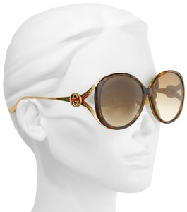 Gucci GUCCI GG0226SK - 002 Brown Gold Sunglasses